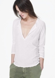 James Perse SPACED JERSEY OPEN HENLEY
