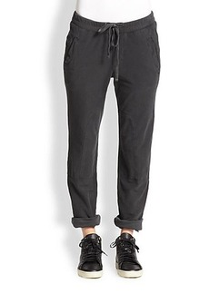 James Perse Stretch Cotton Cargo-Style Pants