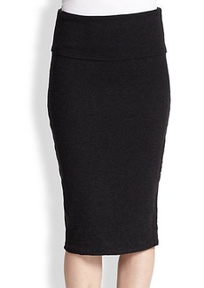James Perse Stretch Cotton Jersey Pencil Skirt