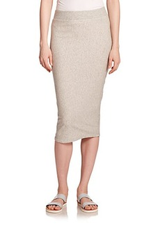 James Perse Stretch-Cotton Knit Pencil Skirt