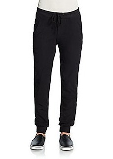 James Perse Stretch Cotton Twill Track Pants