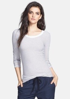 James Perse Stripe Long Sleeve Tee