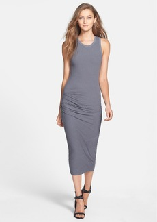 James Perse Stripe Skinny Ruched Tank Dress
