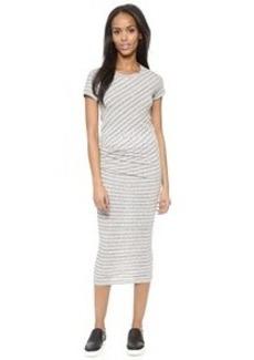 James Perse Stripe Tucked Tee Maxi Dress