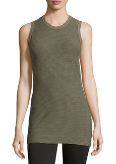 James Perse Striped Cotton-Blend Jersey Tank, Marjoram