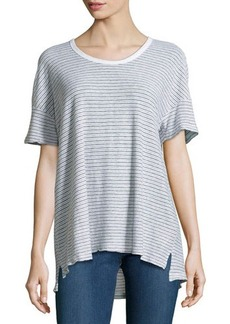 James Perse Striped Cotton-Blend Jersey Tee