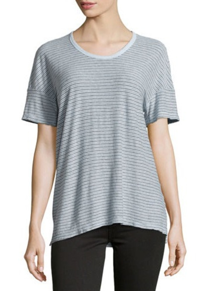 James perse james perse striped cotton blend jersey tee for James perse t shirts sale