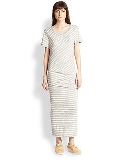 James Perse Striped Cotton Maxi Dress