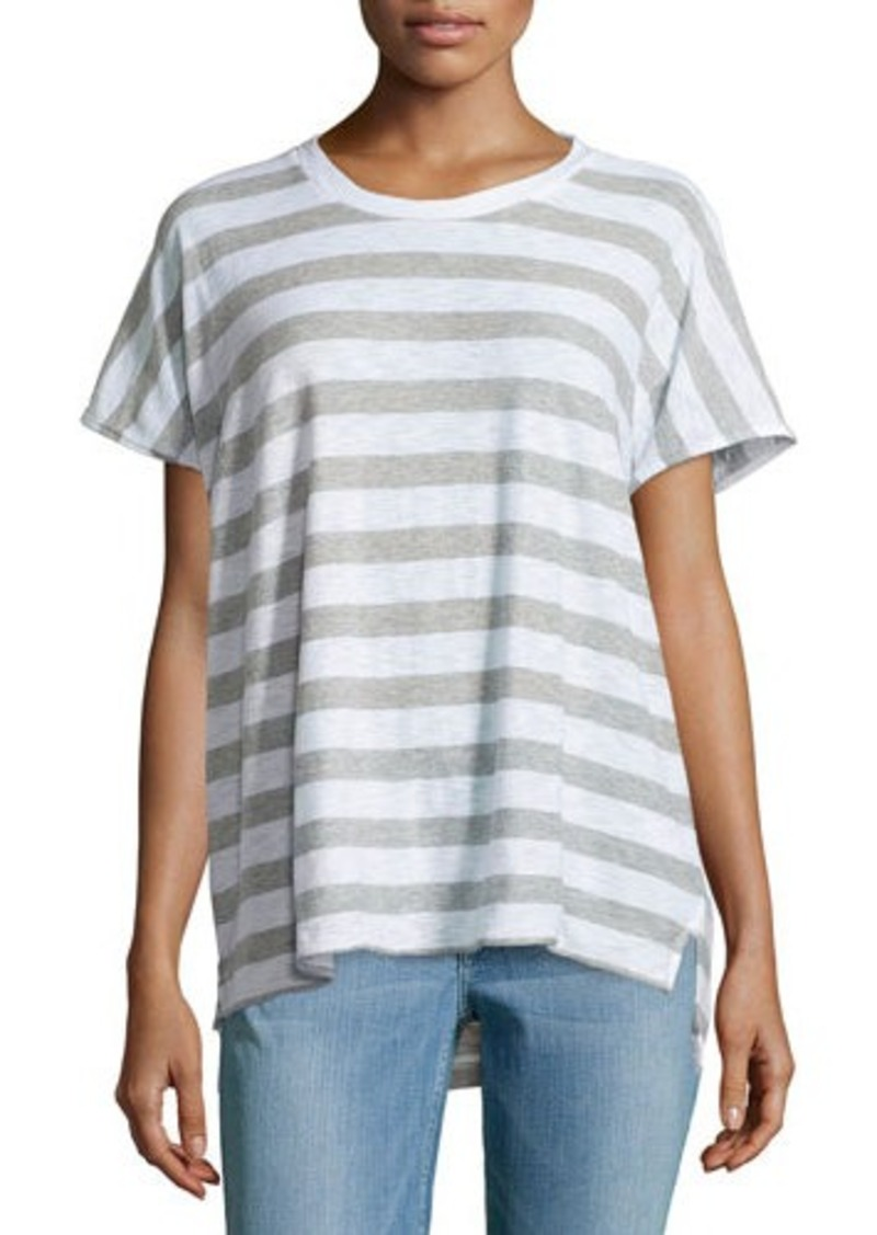 James perse james perse striped dolman slub jersey tee for James perse t shirts sale