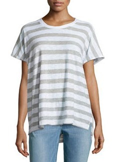 James Perse Striped Dolman Slub Jersey Tee, White