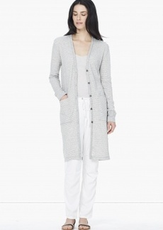 James Perse STRIPED FLEECE CARDIGAN