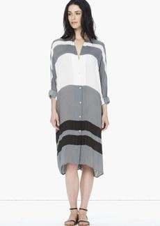 James Perse STRIPED OVERSIZED DOLMAN SHIRT DRESS