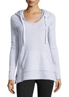 James Perse Striped Raglan Hoodie, White