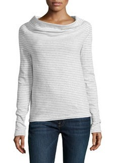 James Perse Striped Raglan Pullover, White