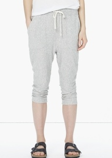 James Perse STRIPED SLOUCHY CROPPED SWEATPANT