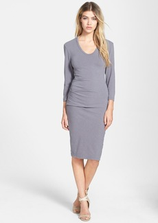 James Perse Sueded Stretch Jersey Skinny Dress