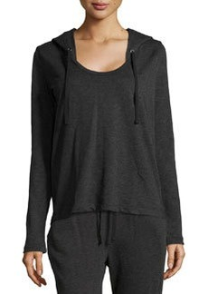 James Perse Terry Cloth Long-Sleeve Hoodie, Black