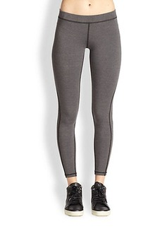 James Perse Topstitched Stretch Jersey Leggings