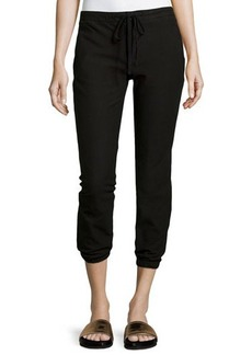 James Perse Twill Cropped Jogger Pants