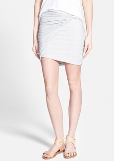 James Perse Twisted Jersey Miniskirt