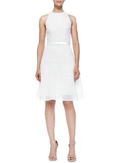 Corded Lace Dress W/ Flounce Hem   Corded Lace Dress W/ Flounce Hem