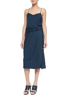 Draped Satin-Back Crepe Dress   Draped Satin-Back Crepe Dress
