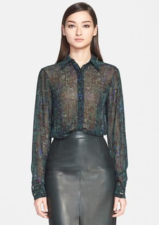 Jason Wu Abstract Print Silk Georgette Blouse