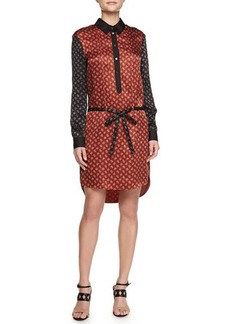 Jason Wu Belted Combo Shirtdress