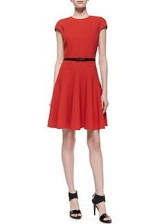 Jason Wu Belted Flounce Dress, Red