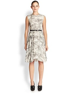 Jason Wu Belted Silk Chiffon Dress
