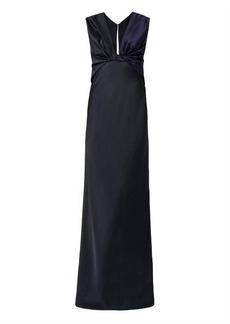 Jason Wu Bi-colour twist-front crepe gown
