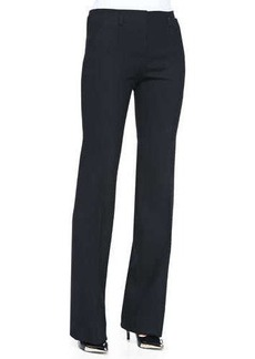 Jason Wu Bi-Stretch Wool Bootcut Pants, Black
