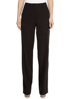 Jason Wu Bi-Stretch Wool Wide-Leg Pants, Black