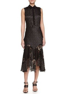 Jason Wu Bias-Hem Combo Shirtdress