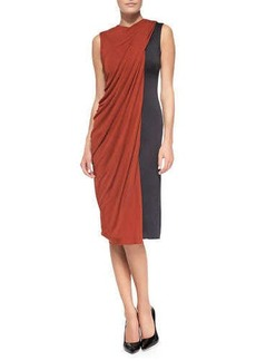 Jason Wu Bicolor Drape-Front Dress