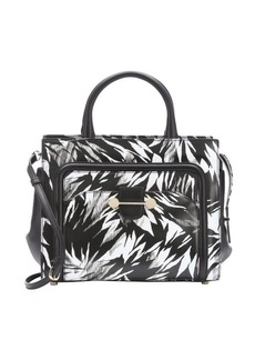 Jason Wu black and white leather 'Daphne 2' tropical print convertible tote