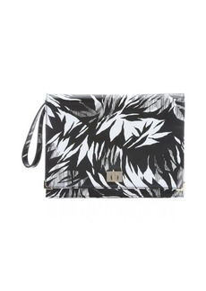 Jason Wu black and white leather 'Jourdan 2' tropical print clutch
