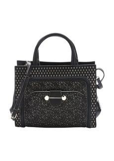 Jason Wu black laser cut leather 'Daphne' convertible tote bag