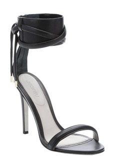 Jason Wu black leather ankle cuff sandals