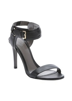 Jason Wu black leather ankle strap sandals
