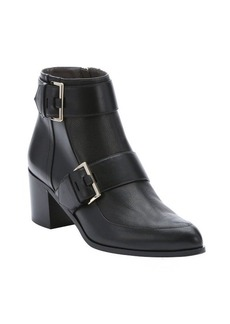 Jason Wu black leather buckle strap detail ankle booties