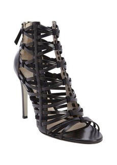 Jason Wu black leather strappy heel sandals