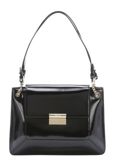 Jason Wu black patent leather 'Christy' flap front shoulder bag