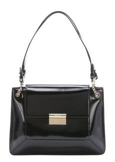 Jason Wu black patent leather 'Christy' flap front shoulder bag