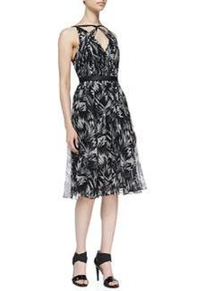 Jason Wu Botanical Crinkled Silk Dress
