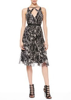 Jason Wu Botanical Crinkled Silk Dress