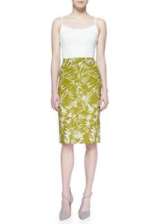 Jason Wu Botanical Linen-Blend Trouser Skirt