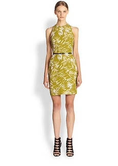 Jason Wu Botanical Linen Crepe Dress
