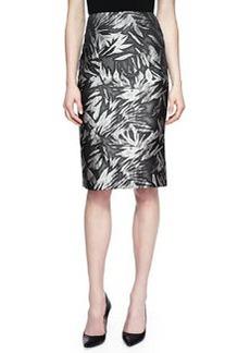 Jason Wu Botanical-Print No-Waistband Skirt