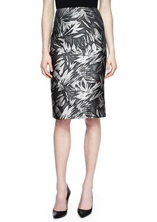 Jason Wu Botanical-Print No-Waistband Skirt